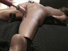 Wife Cums Hard! Spread Eagle - Fuck Machine - Anal Beads *as Requested