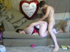 Sexy StepMom takes step son virginity doggy style with a creampie to mommy pussy