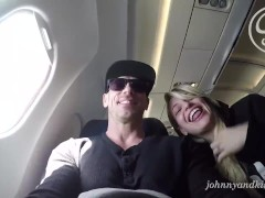 Public Sex Blow Job on an Airplane