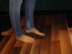 Tall girl cock trample