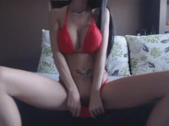MiaMaxx luxury tatooed cover girl riding a cock, DP