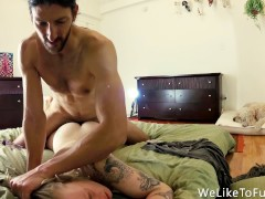 Painful Anal On Our Analversary - Struggling Slut Loves The Huge Cock