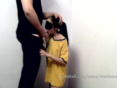 POV. Brother young sister punished because she came drunk in the morning.