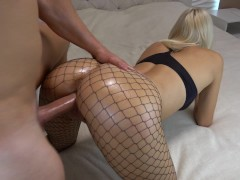 College GF Teen gets crazy from massive creampie multiple orgasm CarryLight