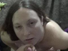 sexy thick red head gets a facial