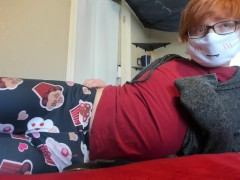 Cute Femboy Twink in Leggings Jerks off and Cums