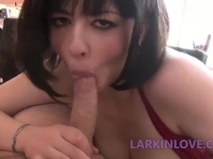 Long Tongue Blowjob Oral Cumshot Larkin Love