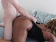 Spanking and fucking my thick black girlfriend