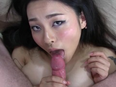 Creampie Asian Rough Fuck Until She Shakes!! - Rae Lil Black