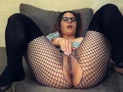 Hot babe cums on webcam : Teacher of Magic fingering orgasm