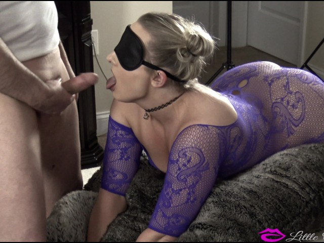 porn threesome surprise Blindfold wife