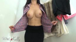 Fitting room masturbate...