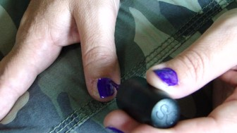 Painting Nails....Purple