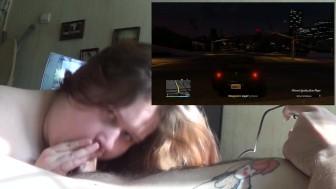 BBW Tanya Mellow blowjob vs. GTA Online