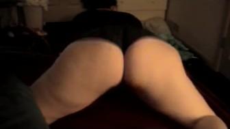 booty shakin in black panties