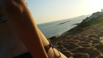 With My Girlfriend On The Beach