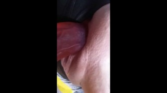 milf with the tightest hottest shaved pussy being fucked with big dildo