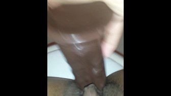 Masturbating in my girlfriend's mom's bathroom while she's asleep Part 2