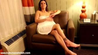 Sexy Milf in Towel Jerk Off Instruction
