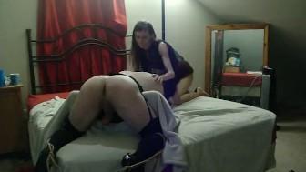 Punishing my Sissy Bitch in Chastity