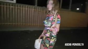 Aische Pervers - Public Anal Creampie Walk