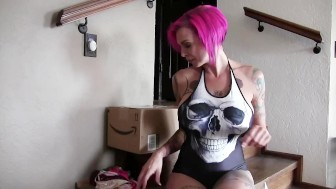 Anna Bell Peaks Trying on the Smallest Bikini EVER!