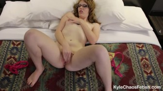 Horny Redhead Slut Fingerbangs Tight Pussy