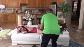 Behind the scenes, Jennifer White and Krissy Lynn intruder sex