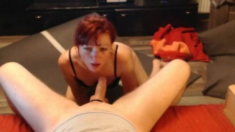 Submissive hot milf awesome moaning 1h blowjob on webcam ! i did it again