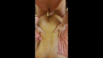 FUCKING THAT ASIAN BOOTY DOGGIE STYLE FROM MULTIPLE ANGLES.