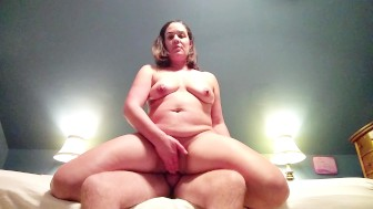 Pt.2 Milf rides hard dick, then he finishes her off with an ANAL creampie..