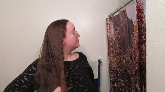 Hair Journal: Combing Long Curly Strawberry Blonde Hair - Week 3 (ASMR)