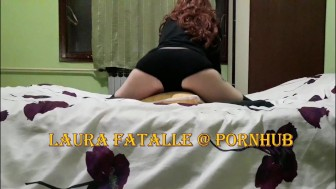 Step sister caught masturbating humping her pillow - Laura Fatalle