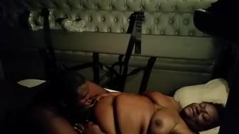 Sex in the semi 3 deep vaginal creampie