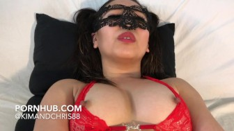 Intense clit rubbing orgasm
