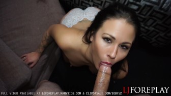 Horny Wife Sucks Her Husbands Cock - LJFOREPLAY