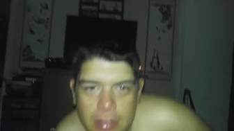 son lickimg moms pussy while she talks dirty to him an spreads pussy
