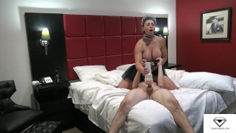 Rapture lifts jerks & fucks her slave boy