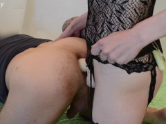 Picture Hot Wife Fucking Guy with Strapon PEGGING FE...