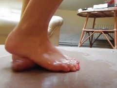Picture Cock crush dancing with sexy barefeet red to...
