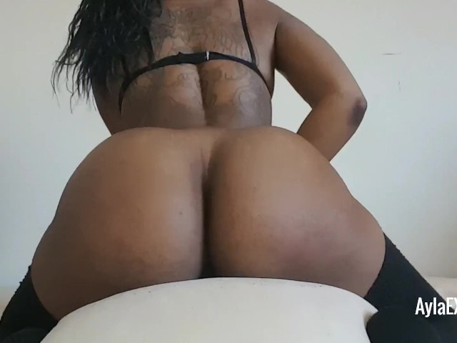 Big Booty Ebony Rides Dick