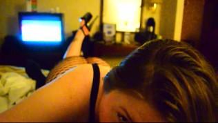 mrs. teasing and pleasing my black cock in hotel room