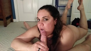 Cheating wife edges a cock and sucks the cum out…