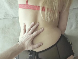 Epic Vintage Ass to Mouth fucking with super hot girl in nylon stocking