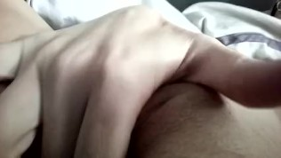 Ginger Banks Cumming Next to Her Sleeping Sister