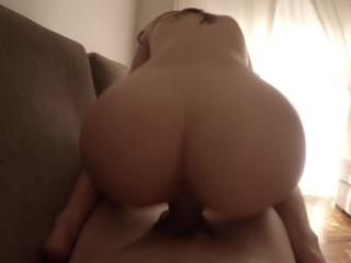 Fucked and creampied by boyfriend's big dick ♡