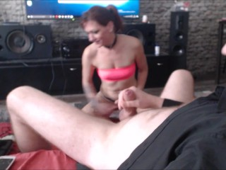 Nasty polish slutwife dirty-talk deepthroat blowjob