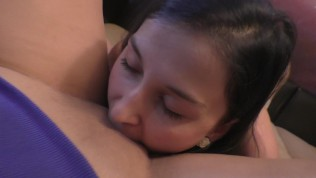 FPOV Lesbian : College girl eating pussy : Real orgasm