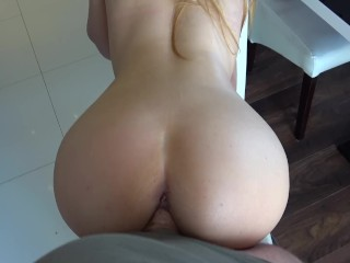sexy in need of sex stepsister play with steprother in kitchen
