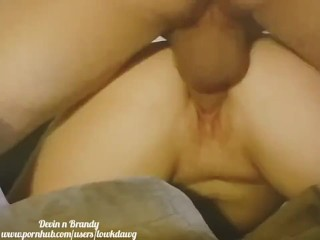 Sexy wake up, close up pussy licking,blowjob and creampie on couch!!